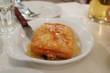 Fried Feta with Honey & sesame