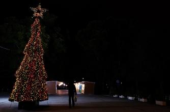 Christmas Bazaar in the national garden of Athens