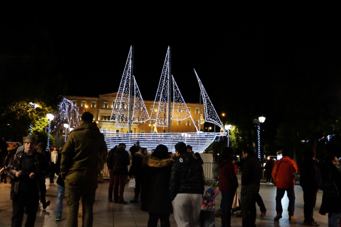 Boat in Syntagma Square
