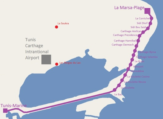 TGM tunis train map guide