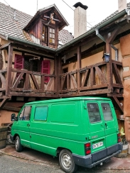 Ornamented Old house in riquewihr