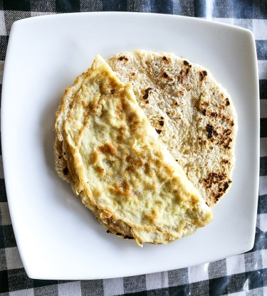 Roti with an omelette