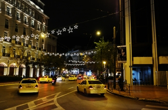 Street lights around Syntagma